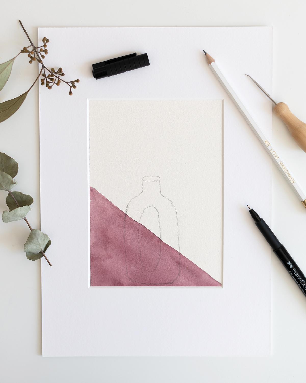Trockenblumen-Bild mit Vase | we love handmade