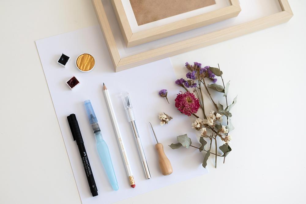 Trockenblumen-Bilder: DIY-Materialien | we love handmade