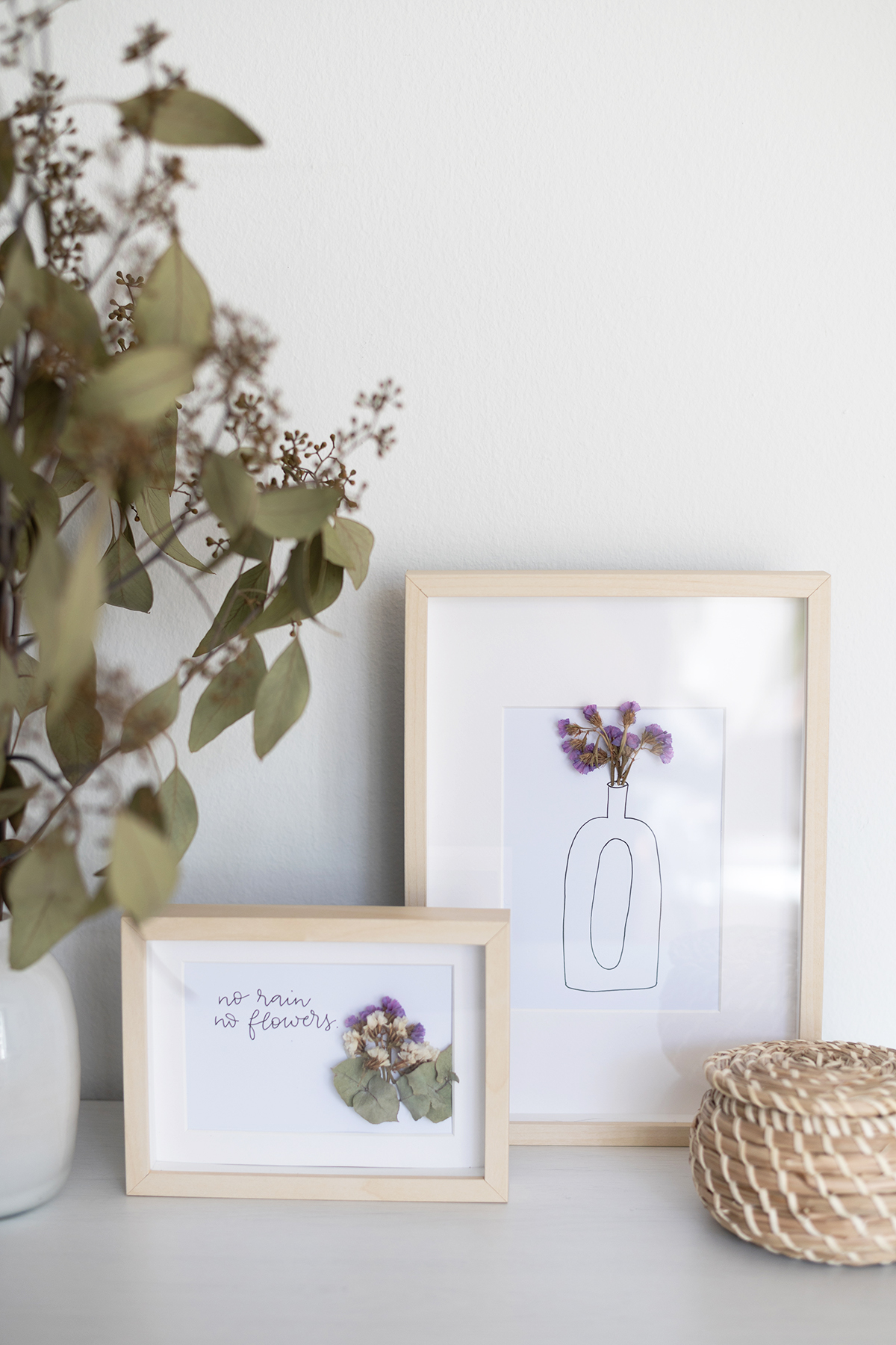 Trockenblumen-Bilder selber machen | we love handmade