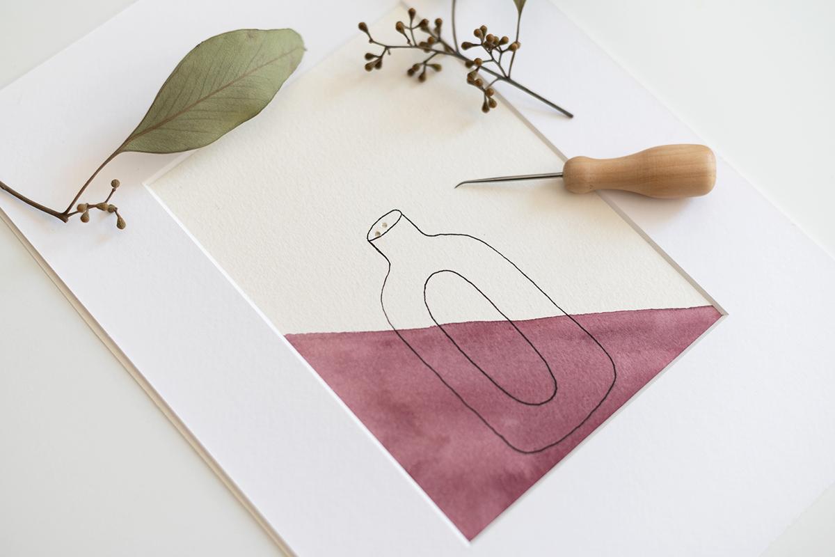 Trockenblumen-Vase: Illustration | we love handmade