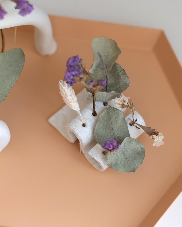 Trockenblumen-Vase: Welle | we love handmade