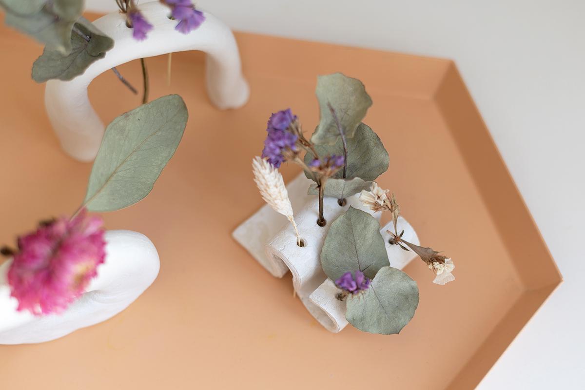 Trockenblumen-Vasen fertig - Clay | we love handmade
