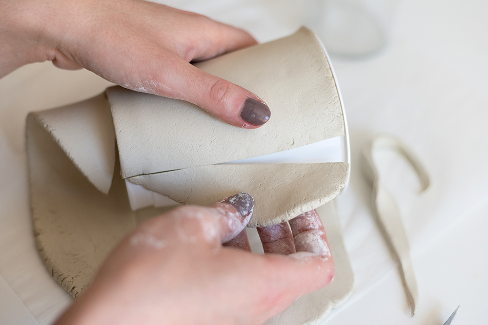 Clay-Tontopf mit Struktur | we love handmade