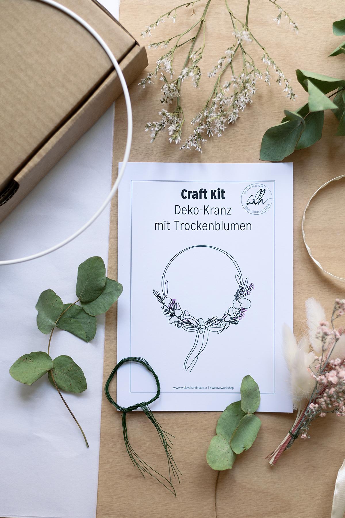Craft Kit: Trockenblumen-Kranz im Shop   we love handmade