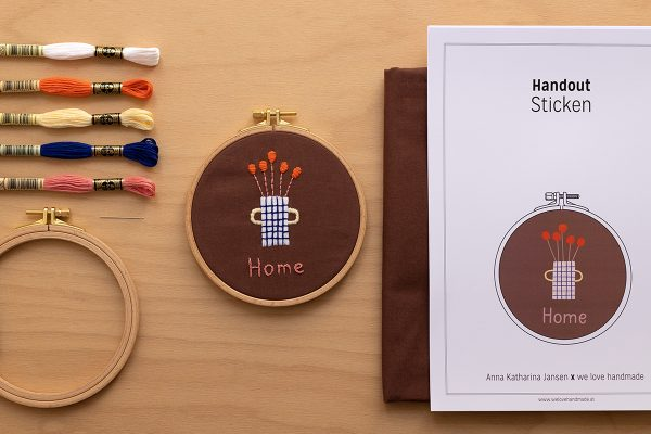 HOME Stick-Kit mit Anna Katharina Jansen | we love handmade