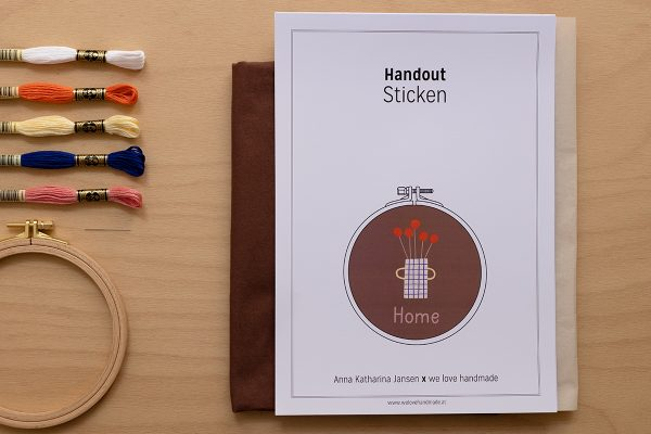 HOME Stick-Kit: Stickbild mit Anna Katharina Jansen | we love handmade