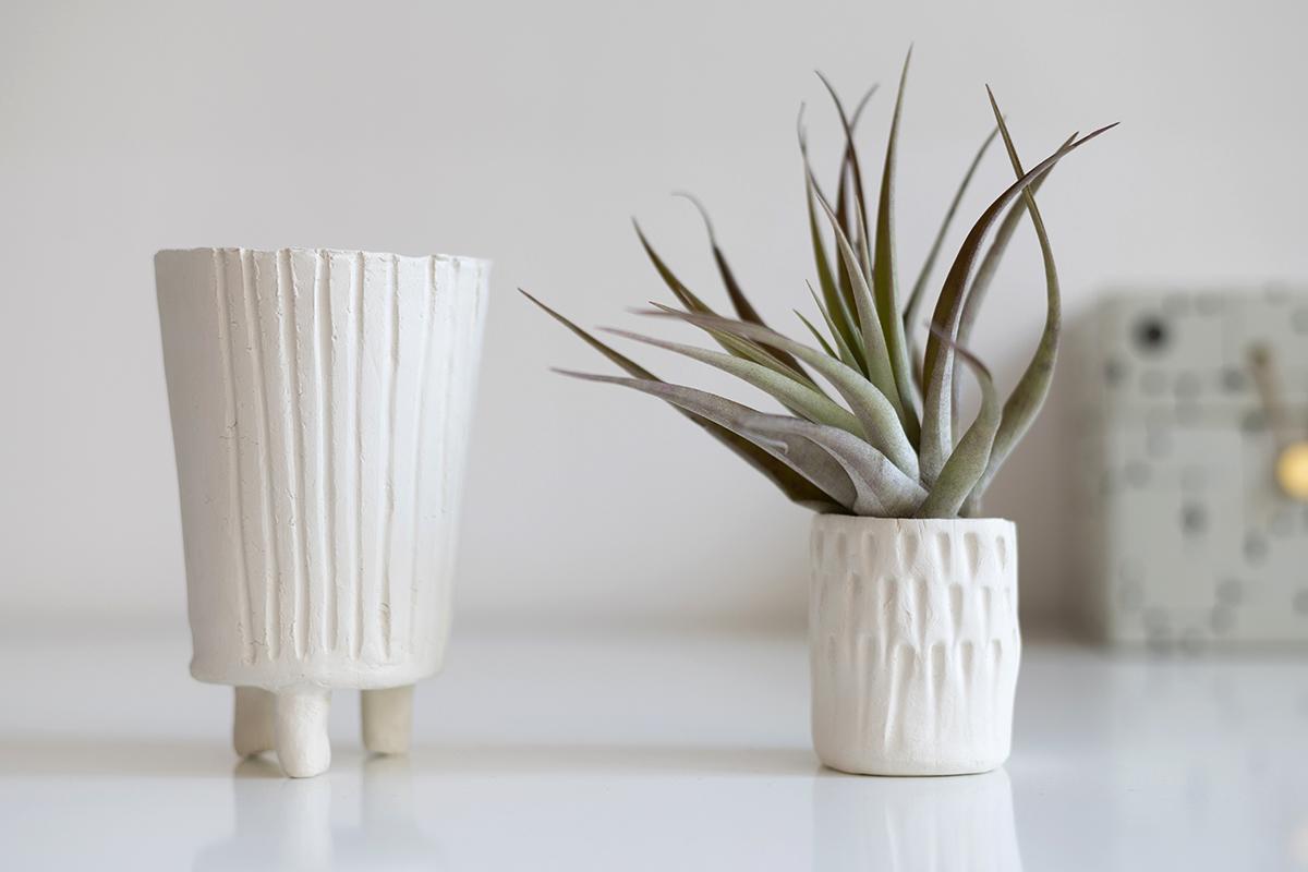 Ton-Blumentopf selber machen | we love handmade