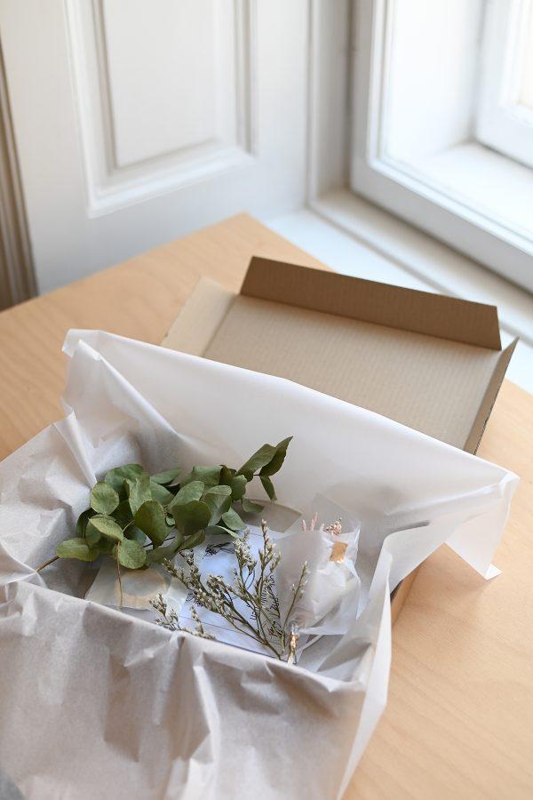 Trockenblumen-Kit gepackt | we love handmade