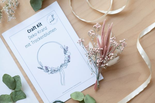 Trockenblumen-Kranz: DIY Craft Kit | we love handmade