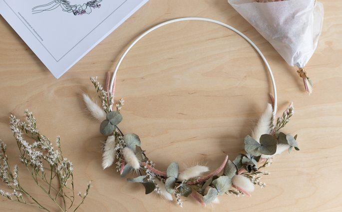 Trockenblumenkranz DIY-Kit | we love handmade