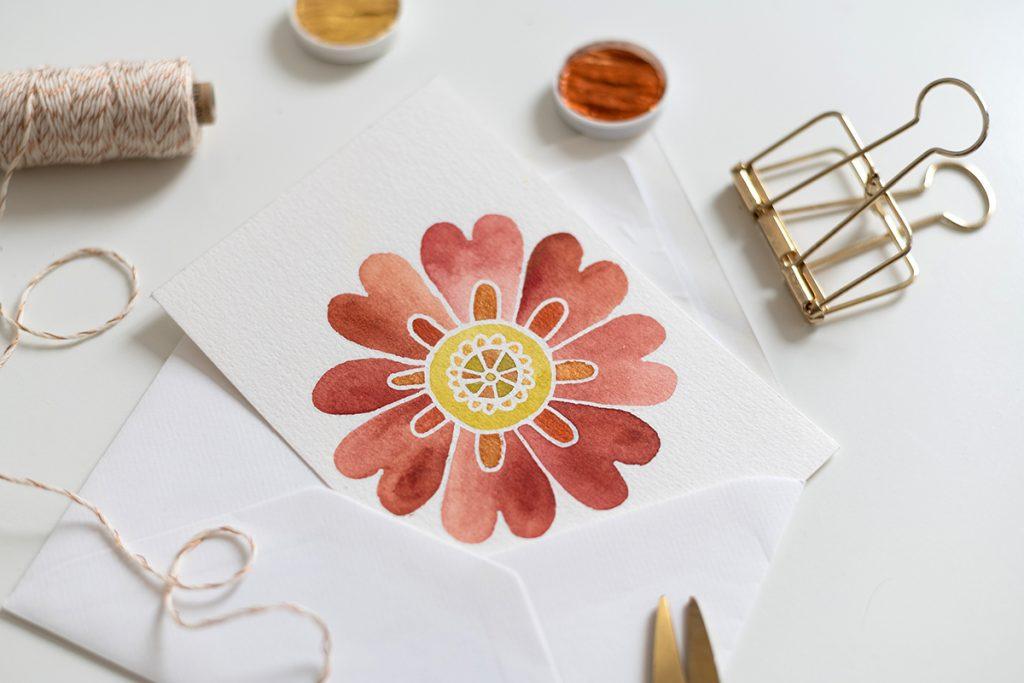 Aquarell-Blumen-Mandala-Karte   we love handmade