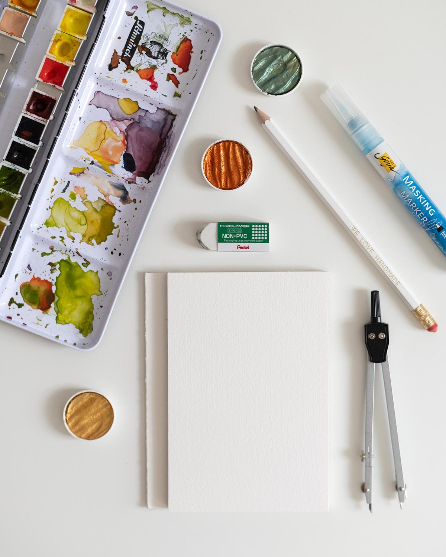 Aquarell-DIY-Materialien: Masking Marker   we love handmade