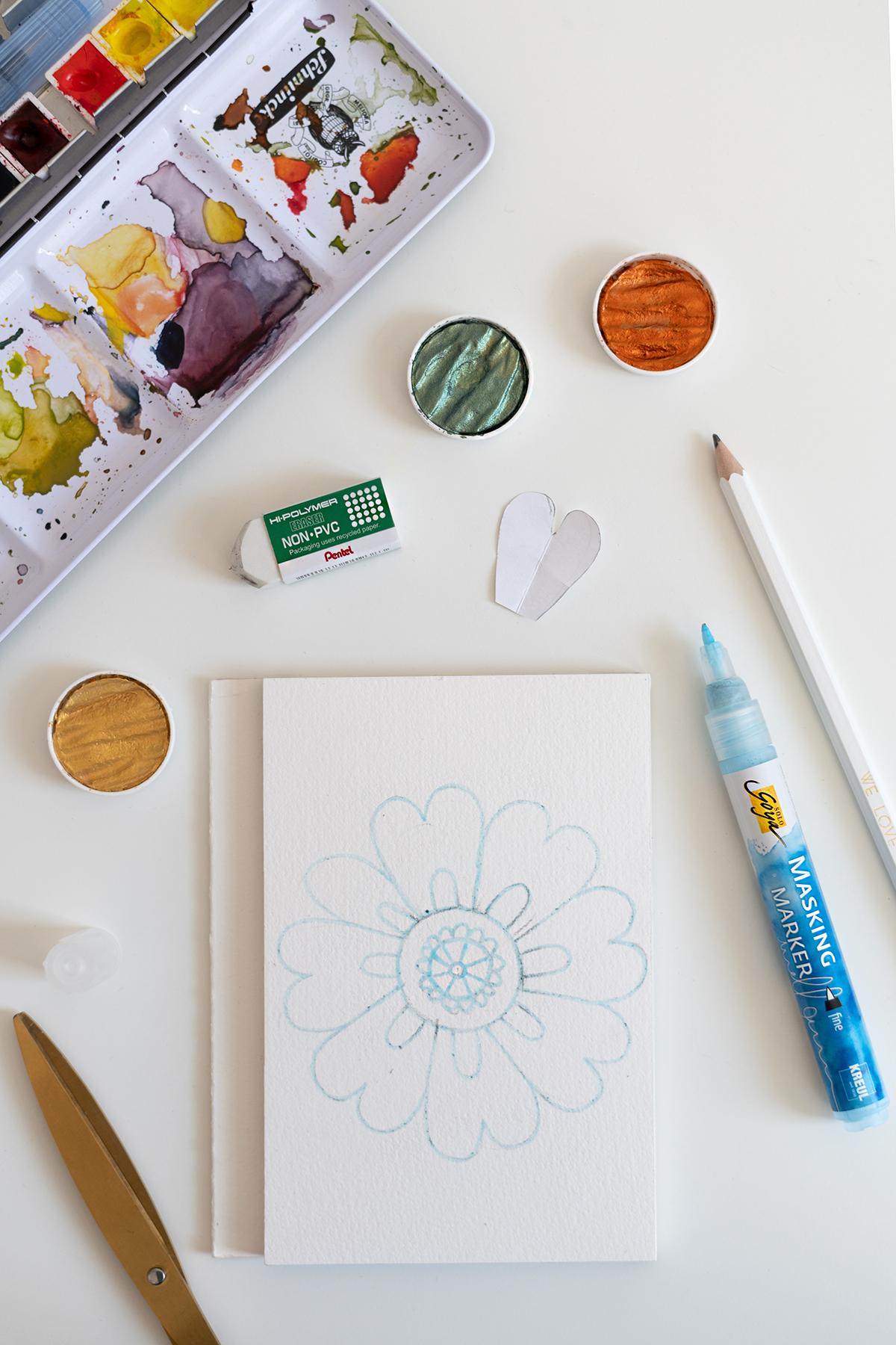Blumen-Mandala mit Masking Marker   we love handmade