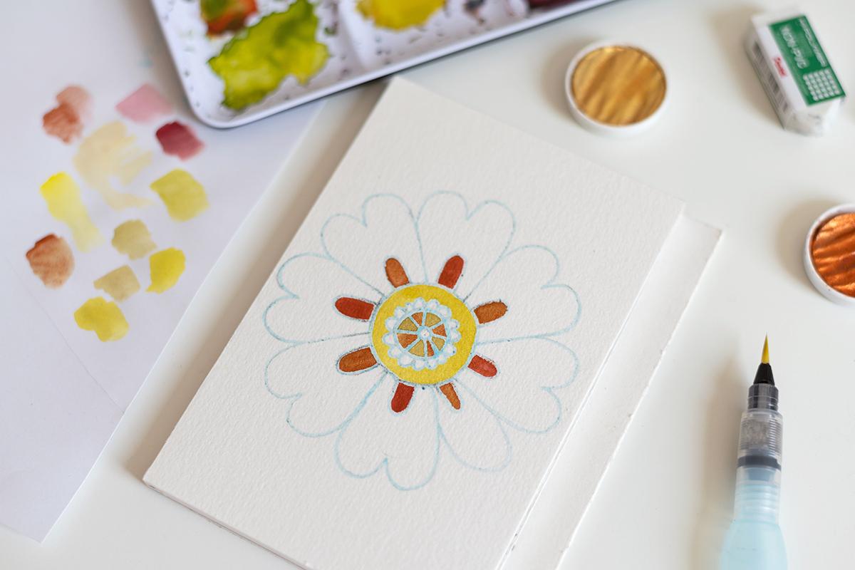 Blumen-Mandala malen: DIY   we love handmade