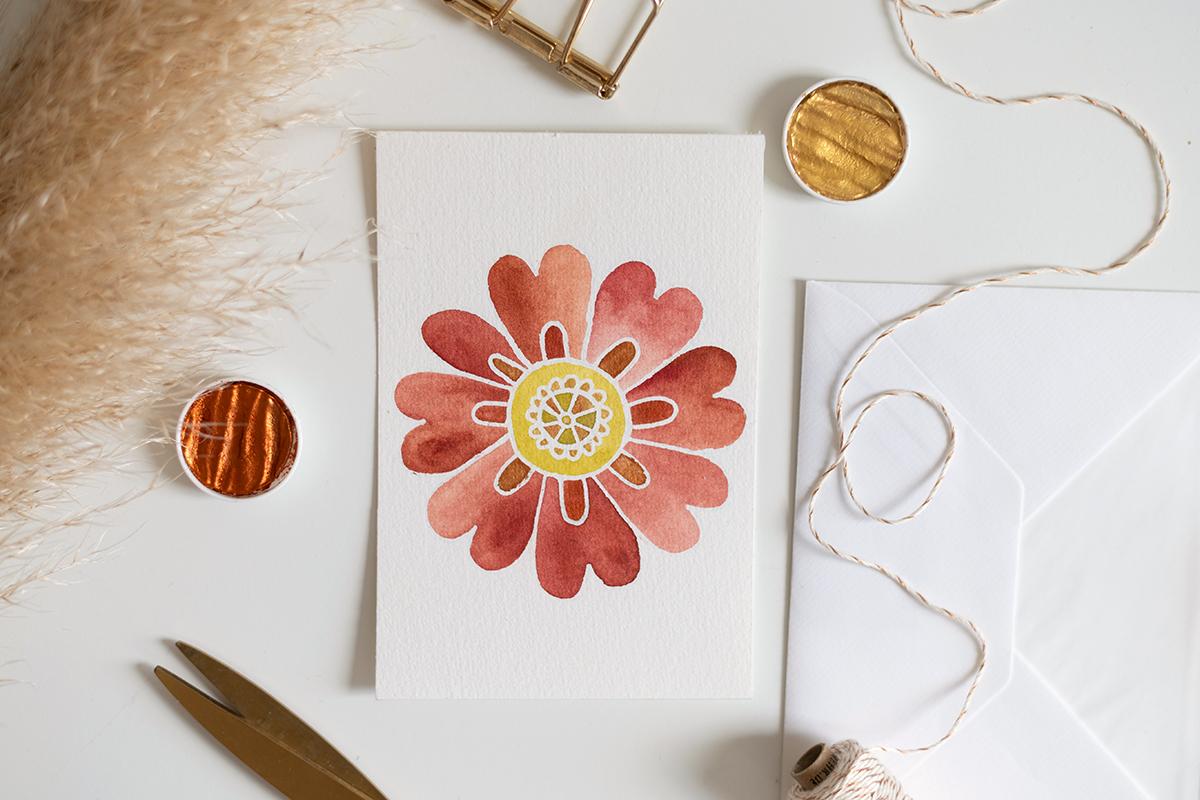 Blumen-Mandala zeichnen: DIY   we love handmade