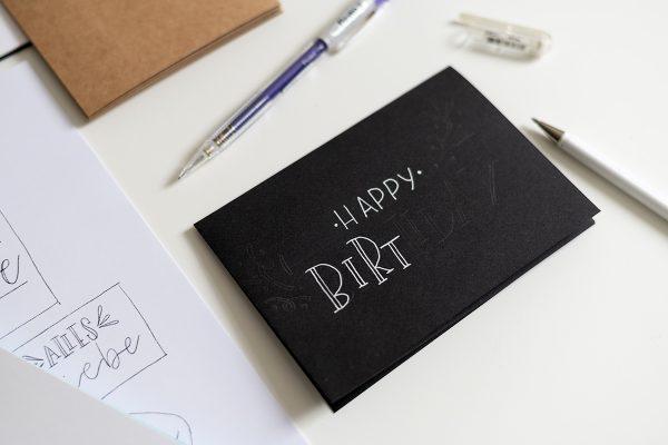 Hand Lettering Craft Kit: Beispielkarte   we love handmade