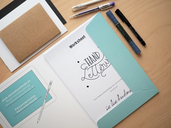 Hand Lettering lernen: Workshop-Kit | we love handmade