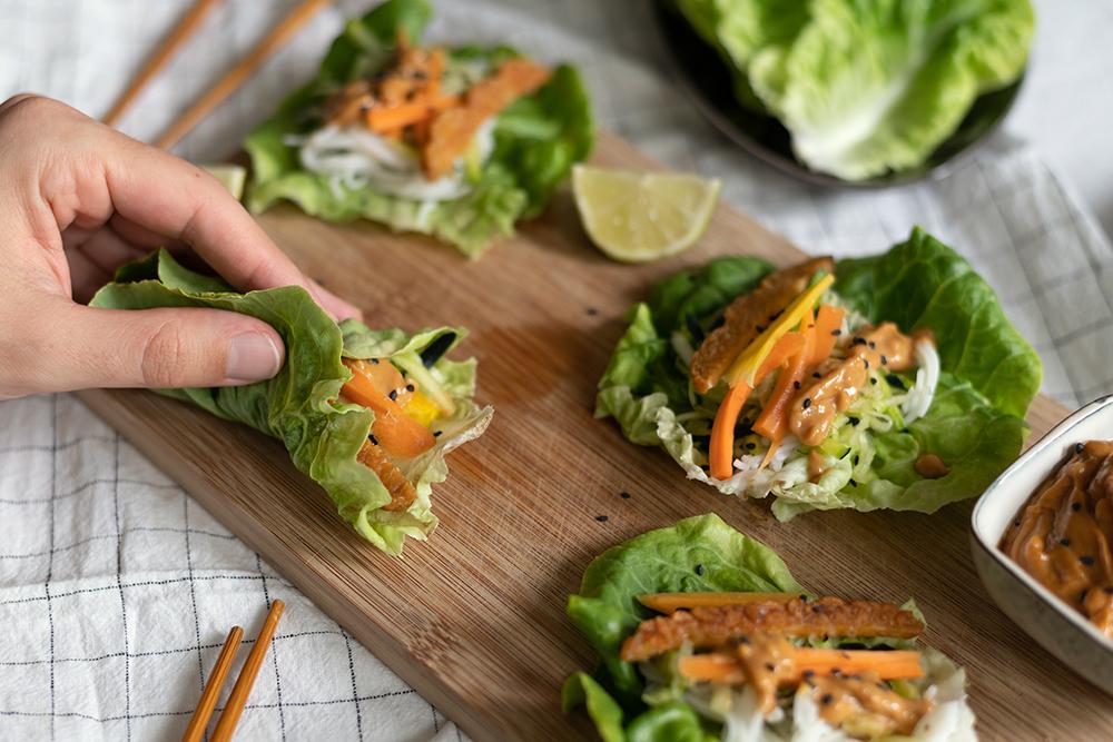 Sommer-Wraps mit Salat   we love handmade