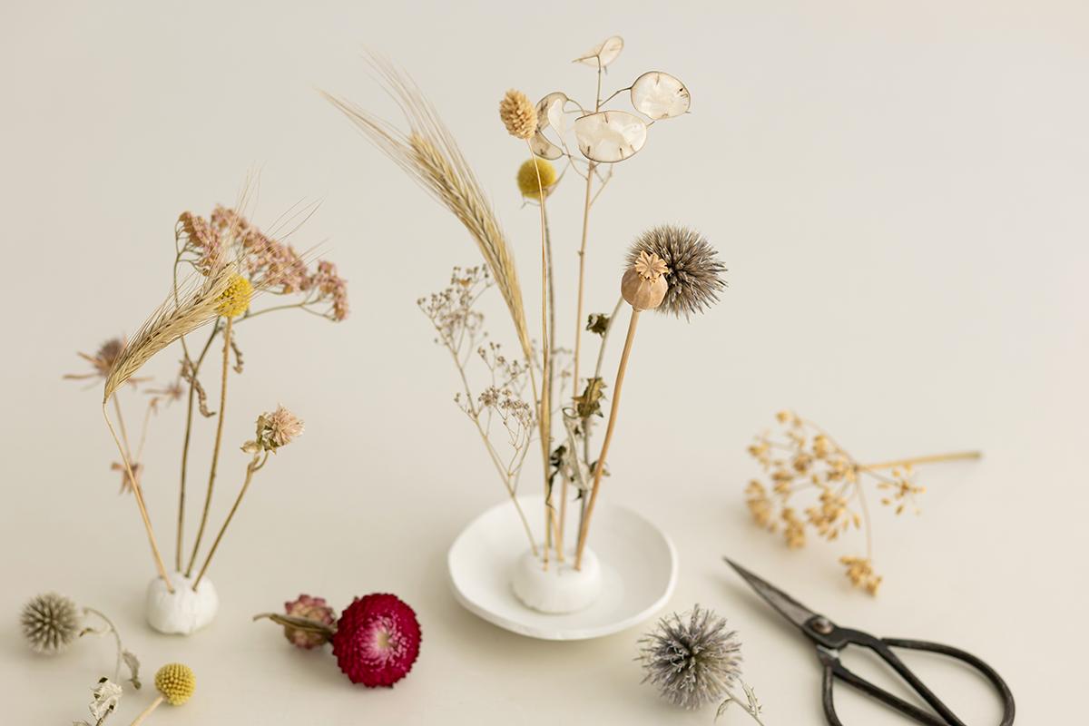 DIY: Trockenblumen-Display aus Modelliermasse   we love handmade