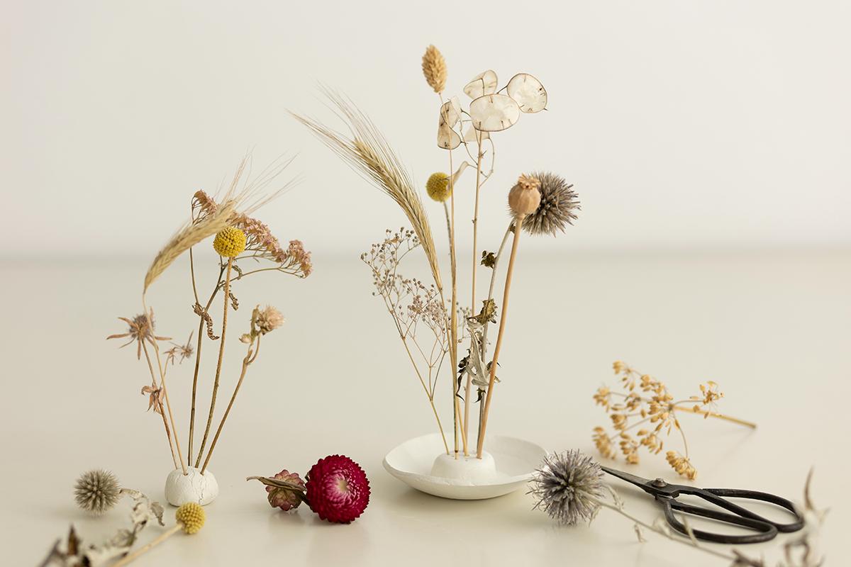DIY: Trockenblumen-Display aus Modelliermasse als Dekoration   we love handmade