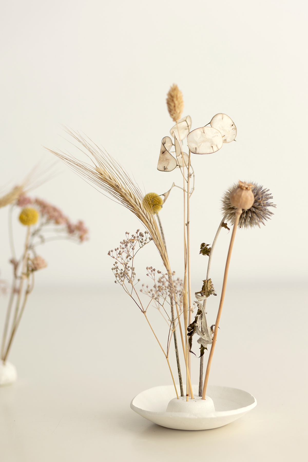 DIY: Trockenblumen-Display aus Modelliermasse oder Clay selber machen   we love handmade