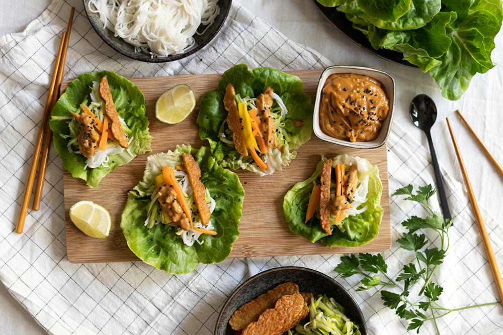 Vegane Salat-Wraps: Rezept   we love handmade
