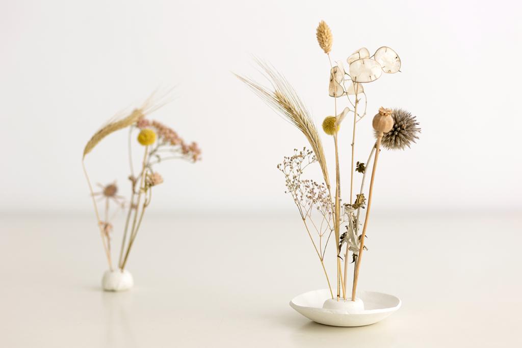 DIY-Anleitung: Trockenblumen-Display aus Modelliermasse selber machen   we love handmade