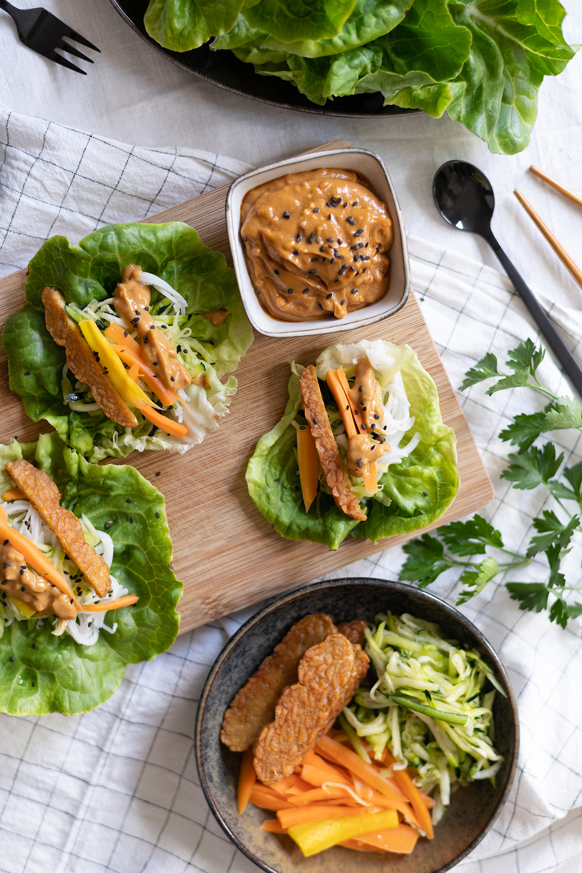 vegane Salat-Wraps   we love handmade