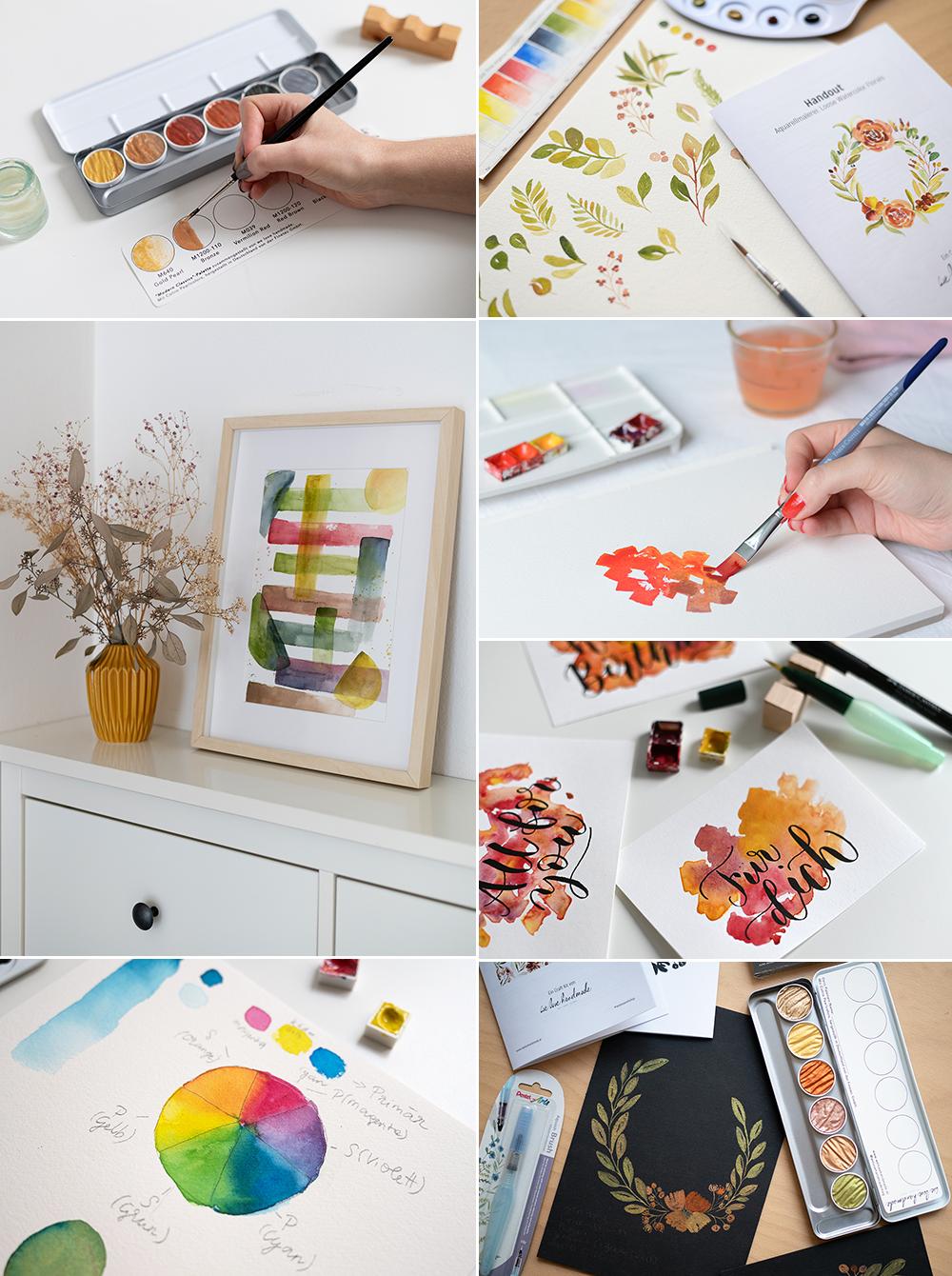 Aquarell-DIYs und Craft Kits   we love handmade