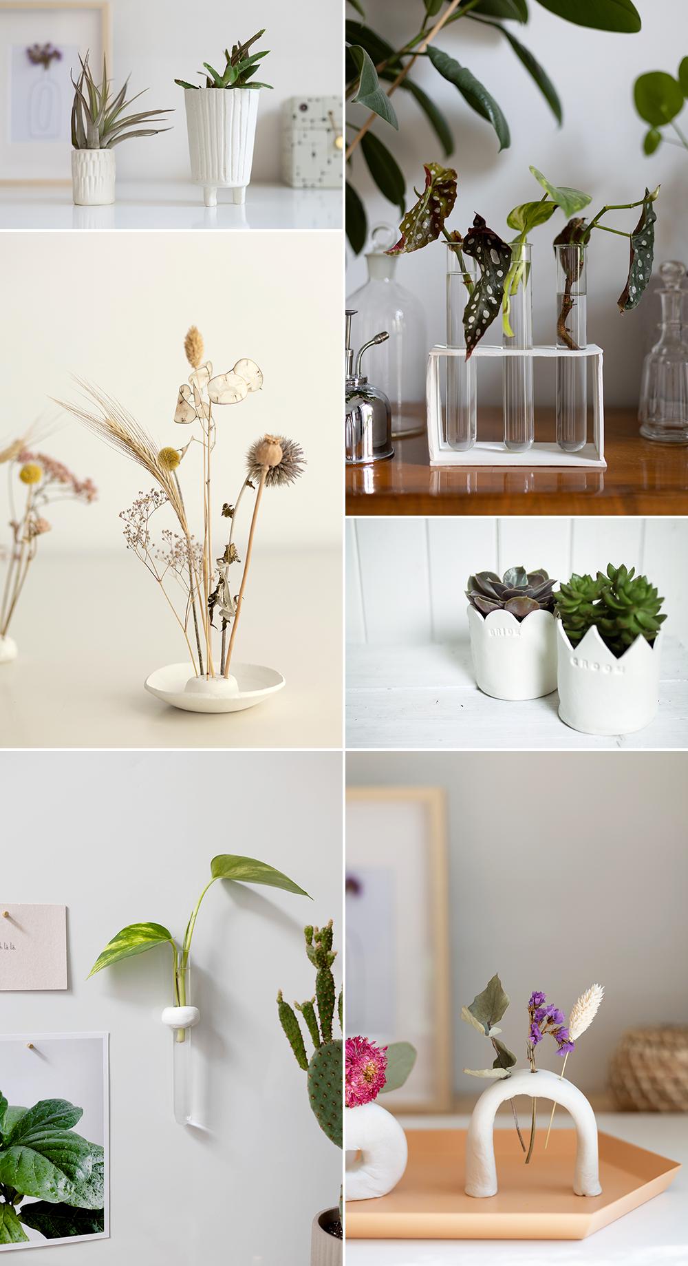 DIY-Inspiration: DIYs aus Modelliermasse und Clay für Pflanzen und Blumen | we love handmade