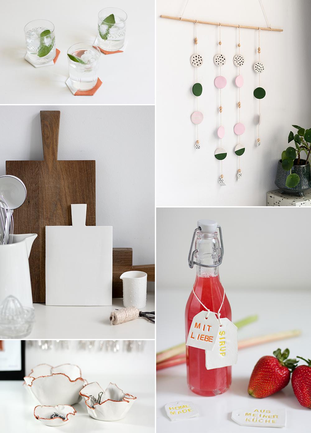 DIY-Inspiration: DIYs aus Modelliermasse und Clay für Home Decor   we love handmade