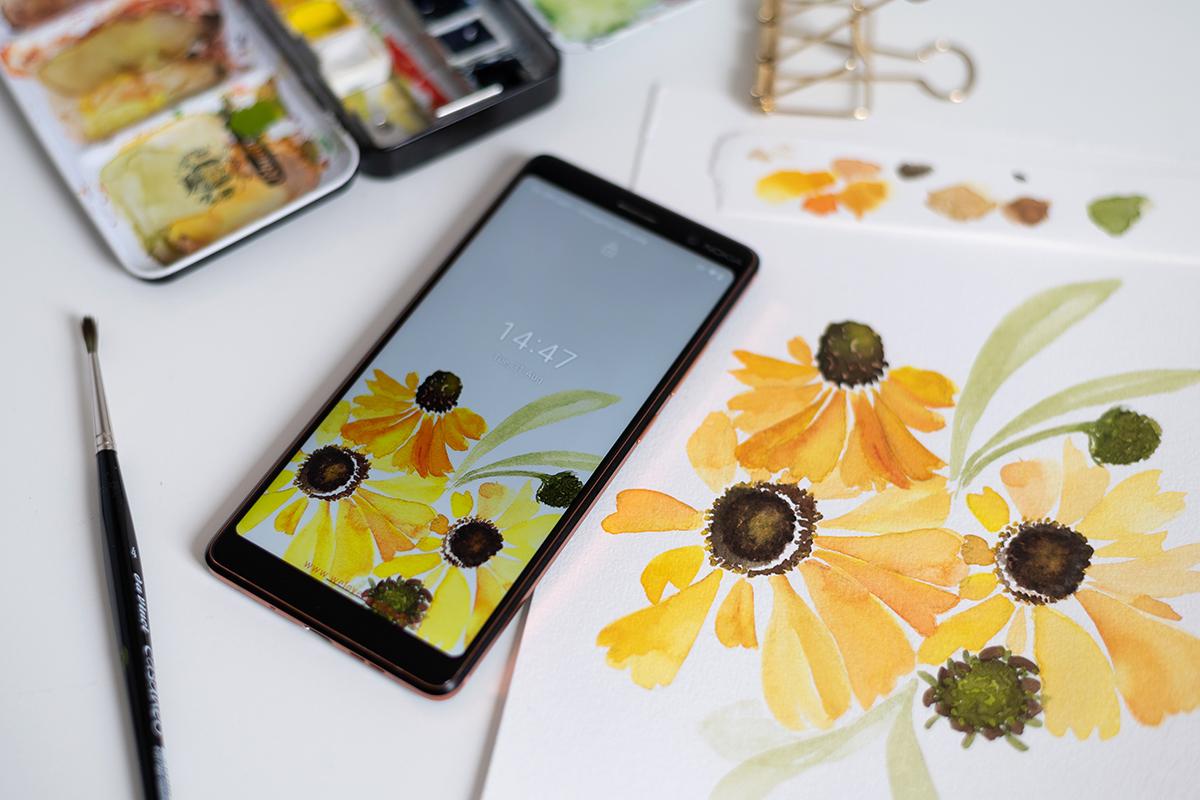 Herbstblumen-Wallpaper   we love handmade