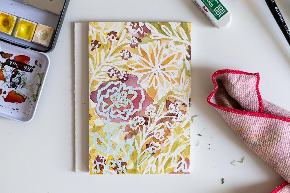 Loose Watercolor Florals mit Masking Marker | we love handmade