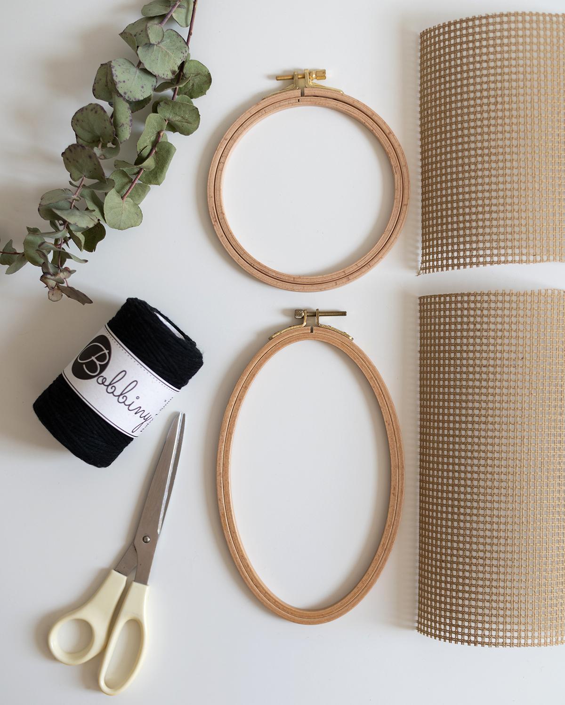 Stickrahmen-Wanddeko: Materialien   we love handmade