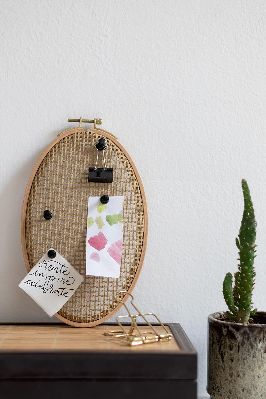 Stramin-Pinnwand: Boho-Deko   we love handmade