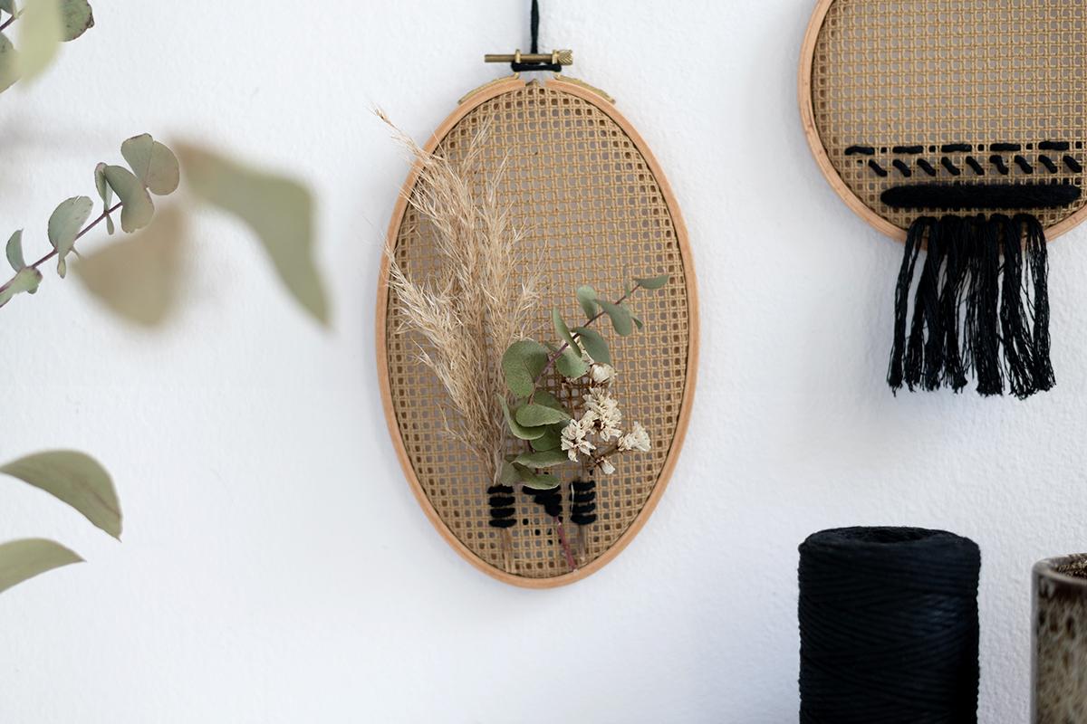 Wanddeko mit Stramin: Varianten   we love handmade