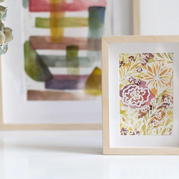 Wildblumen-Aquarellmalerei | we love handmade