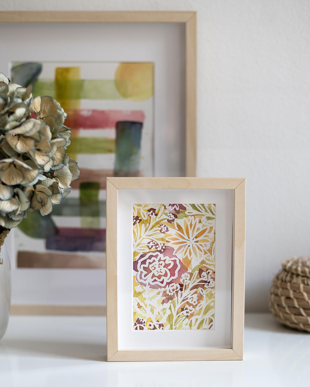wildes Blumen-Aquarell: DIY | we love handmade